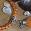 Thumbnail: Bracelet perles Facettes Orange *