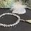 Thumbnail: Bracelet perles Facettes transparentes et argent