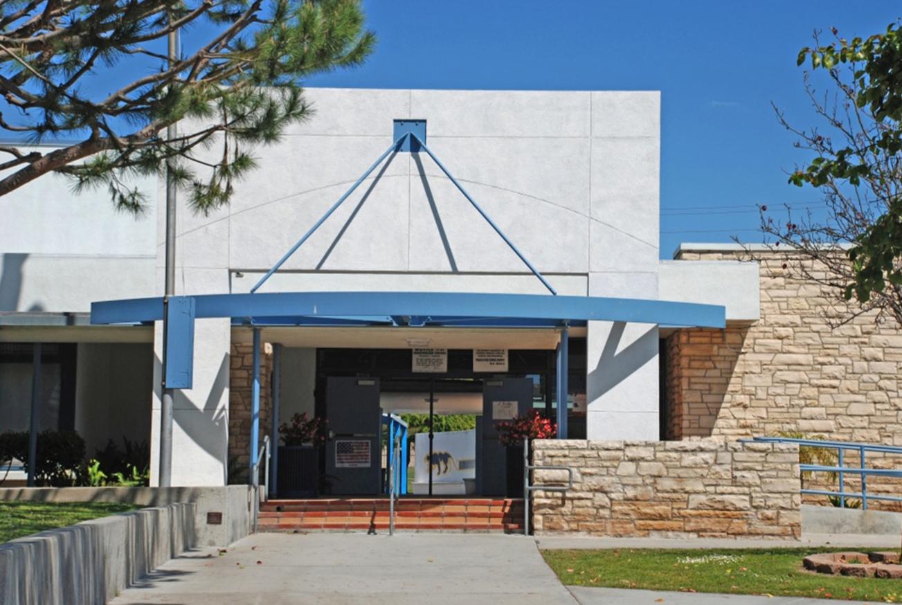 Parris Middle School Entrance During Modernization