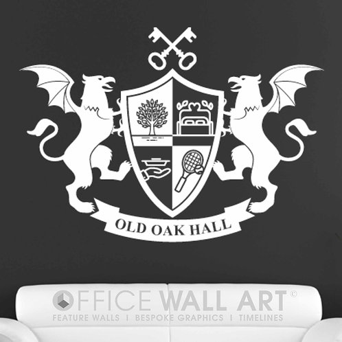 Coat of Arms/Family Crest - Wall Vinyl Decal