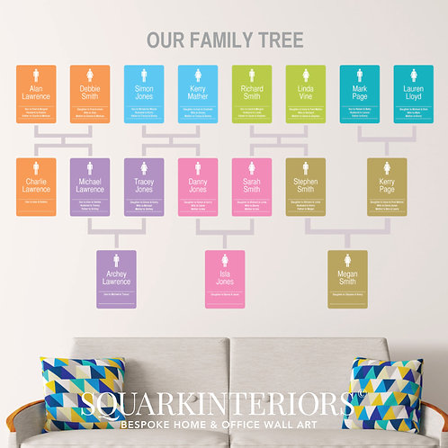 Family Tree Wall Vinyl - Modern Panel