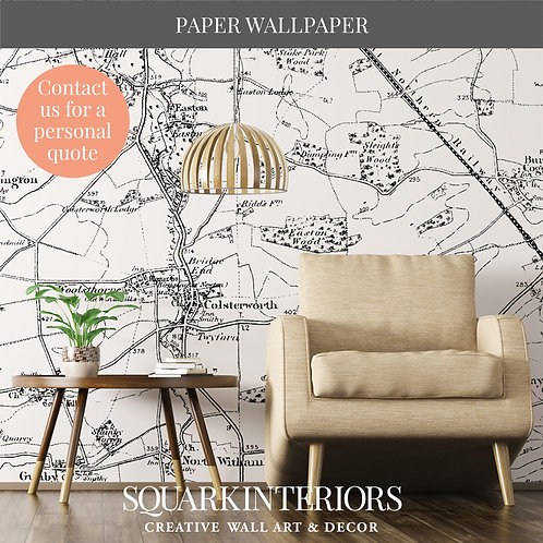 Monochrome Luxury and Textured Vintage Street Map Wallpapers