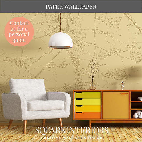 Vintage Colour Vintage Street Map Luxury Wallpapers