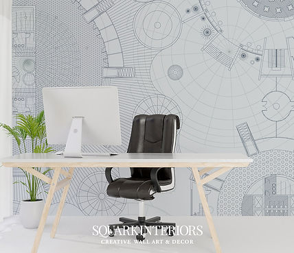 ©squarkinteriors-blue-print-wallpaper-mi