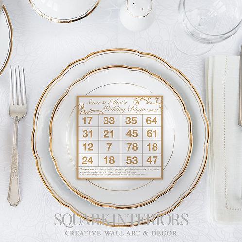 Wedding Bingo Cards  - Personalised