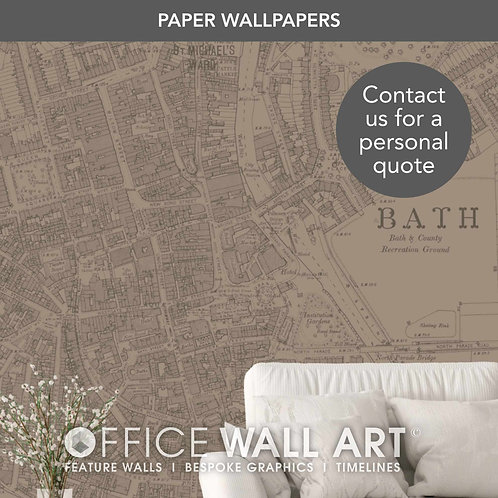Colour Match Vintage Street Map Luxury Wallpapers