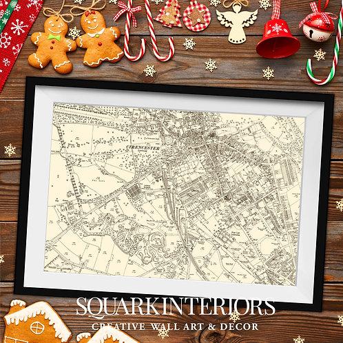 Vintage Town Map Prints
