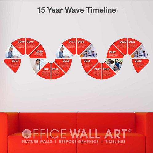 Fifteen year Business Timeline Wall Vinyl