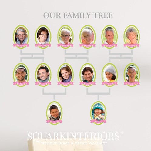 Period Family Tree Wall Vinyl