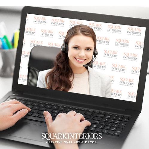 Logo/Custom Designed Digital Backdrop