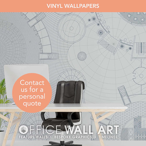Blueprint Vinyl Wallpapers