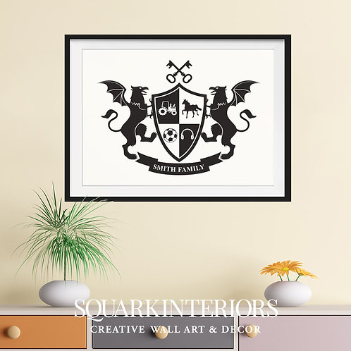 Coat of Arms/Family Crest - Print & Frame