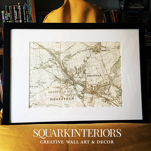 Bespoke Vintage Railway Map Prints