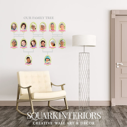 Period Family Tree Wall Vinyl