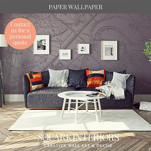 Colour Match Luxury and Textured Vintage Street Map Wallpapers