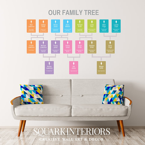 Family Tree Wall Vinyl - Modern Panel