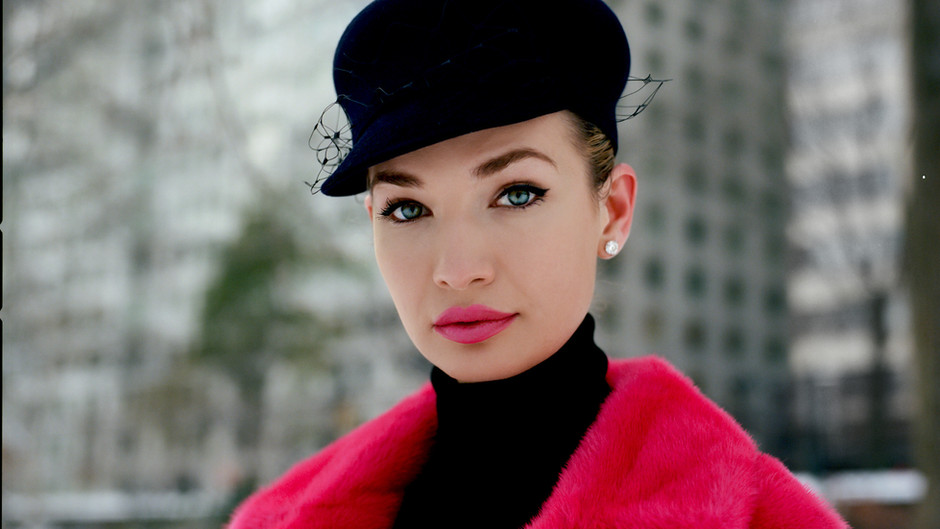 Capturing Dior 1950s Glamour in Central Park on New York City's First Snowfall with Xhesika Berberi