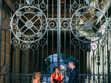 Danielle & Hunter - Meet me at the gates of City Hall - A Philadelphia elopement during Covid.