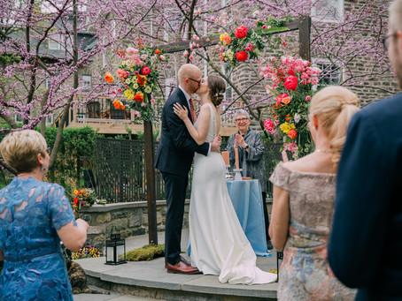 Spring Micro Wedding in Mount Airy, Philadelphia: Anna-Claire & Torsten