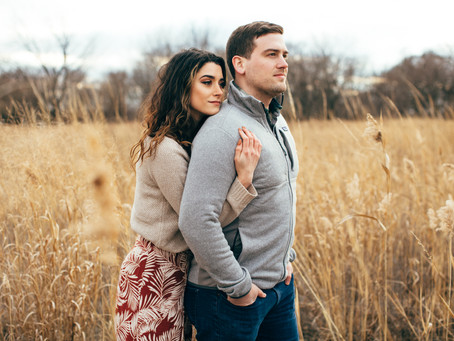 Boho winter engagement shoot at Bartram's Gardens in Philadelphia | Dianna & Jeff
