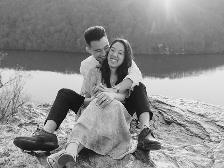 Engagement session at Pinnacle Overlook in Holtwood, PA | Michelle & Sam