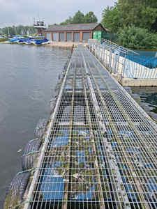 used pontoon section
