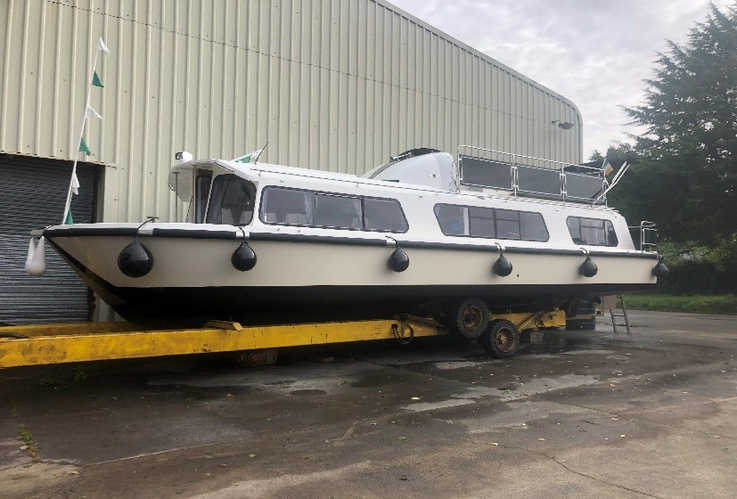 35T BOAT TRAILER WITH BOAT