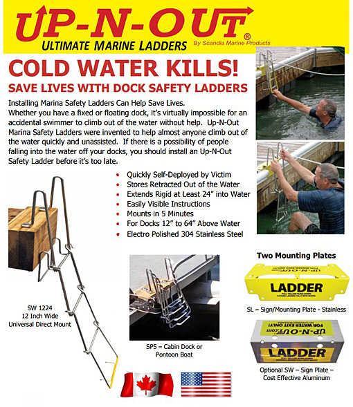 UP-N-OUT DOCK SAFETY LADDER SPECIFICATION