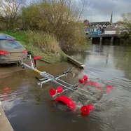 Shrewsbury Marine Reversing Trailer into Water
