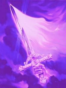 espada llama violeta