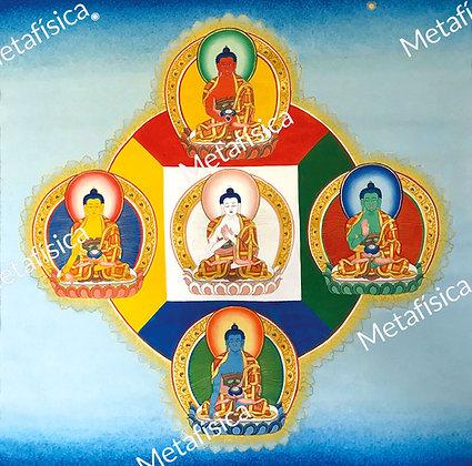 Mandala de los Cinco Dhyāni Buddhas