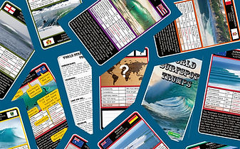 World Surfspot Trump Card Game Collage Surf Trumps Surfing Card Game Surfer Gifts