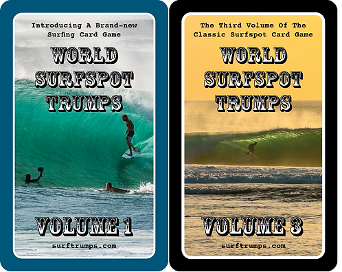 WORLD SURFSPOT TRUMPS VOL. 1 AND VOL. 3 (2 PACK COMBO)