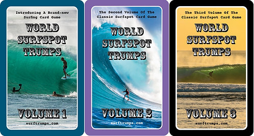 WORLD SURFSPOT TRUMPS VOLS. 1, 2 AND 3 (3 PACK COMBO)