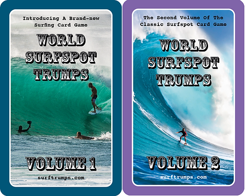 WORLD SURFSPOT TRUMPS VOL. 1 and VOL. 2 (2 PACK COMBO)