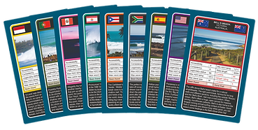 World Surfspot Trump Cards Fanned Out Bells Beach Trump Card Surf Trumps Surfing Card Game Surfer Gifts