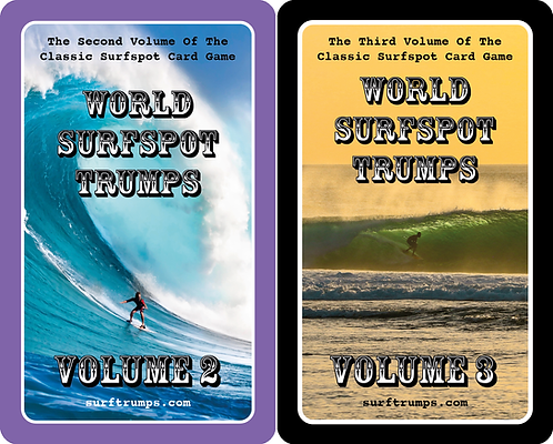 WORLD SURFSPOT TRUMPS VOL. 2 AND VOL. 3 (2 PACK COMBO)
