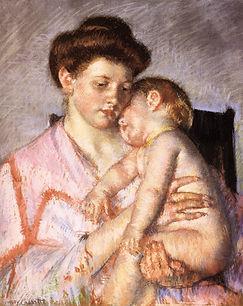 Cassatt - Sleepy Baby pastel.jpg