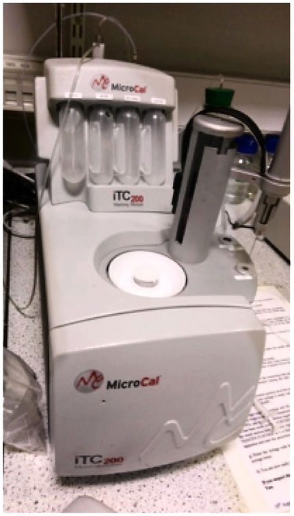 Microcal ITC200 isothermal titration calorimeter used by Gemini Biosciences