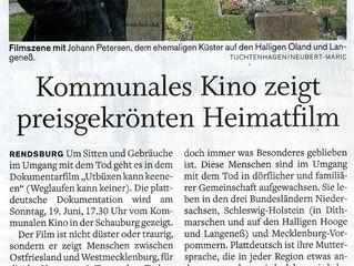 Kommunales Kino, Schauburg - Filmtheater in Rendsburg zeigt Preisgekrönten Heimatfilm
