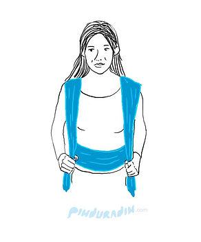 como amarrar um bebê no sling, passo a passo da amarração em x do sling wrap, sling para bebê, slings para bebês