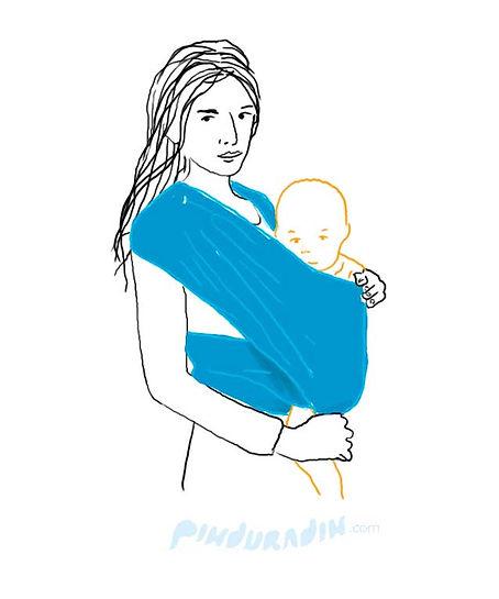 como amarrar um bebê no sling, passo a passo da amarração em x do sling wrap