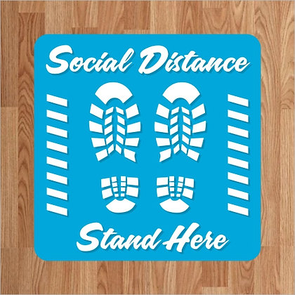 Please Stand Here - Floor Decal