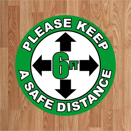Please Keep a Safe Distance - Floor Decal