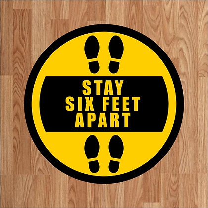 Stay Six Feet Apart - Floor Decal