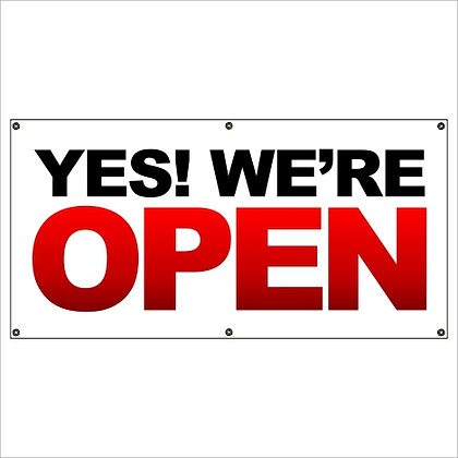Yes! We're Open Banner
