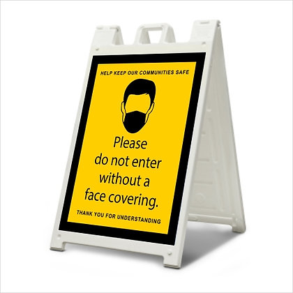 Mask Required - A-Frame Sign