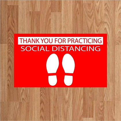 Thank You for Social Distancing - Floor Decal