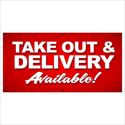 Take Out & Delivery Banner