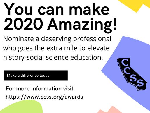 Nominate a colleague for a CCSS award!